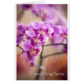Cartão Profundamente - corrente de flor cor-de-rosa da