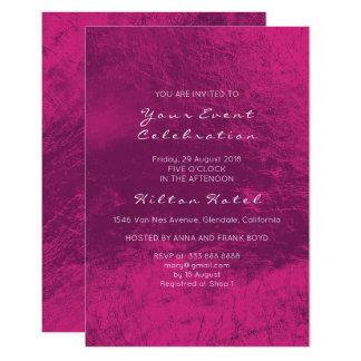 Cartão Profundo roxo metálico mínimo - vidro do rosa do