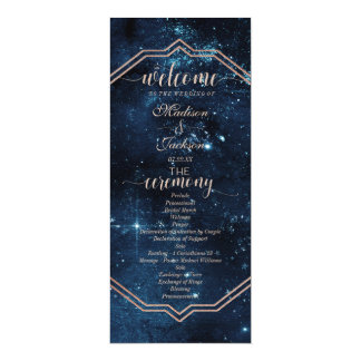 Cartão Programa celestial do casamento da galáxia do céu