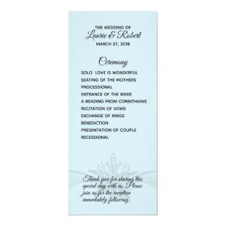 Cartão Programa da cerimónia de casamento da praia da