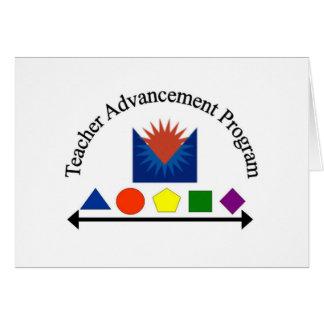 Cartão Programa do avanço do professor