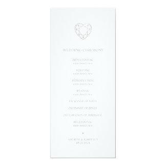 Cartão Programa geométrico de prata do casamento do