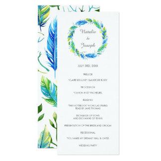Cartão Programa moderno brilhante do casamento de Boho |