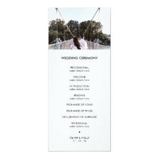 Cartão Programa moderno do casamento da foto