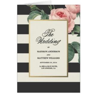 Cartão Programa Wedding botânico do encanto |