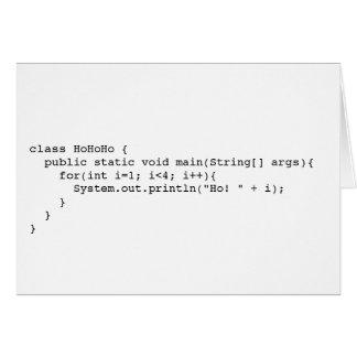 Cartão Programatic Ho! Ho! Ho!