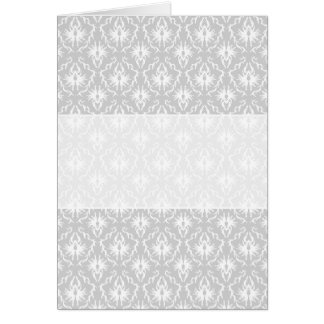 Cartão Projeto cinzento branco e Pastel do damasco