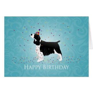 Cartão Projeto do aniversário do Spaniel de Springer