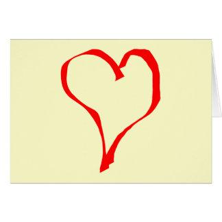 Cartão Projeto vermelho e de creme do coração do amor