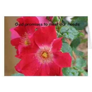 Cartão Promessas do deus de encontrar nossas necessidades