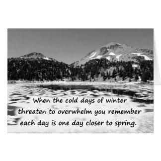 Cartão Promessas do inverno