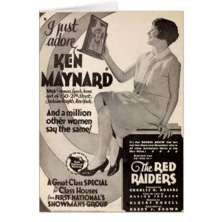Cartão Propaganda 1927 do expositor do vintage de Ken