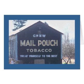 Cartão Propaganda clássica do malote de correio em um