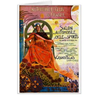 Cartão Propaganda da exposição automóvel de Paris do