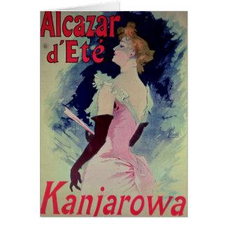 """Cartão Propaganda de poster do """"d'Ete Alcazar """""""