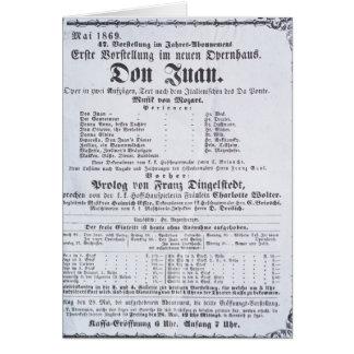 Cartão Propaganda de poster um desempenho 'de Don Juan