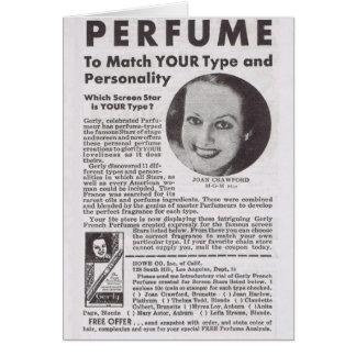 Cartão Propaganda do perfume de JOANA CRAWFORD
