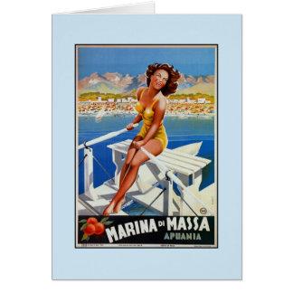 Cartão Propaganda do viagem de Vintage Porto di Massa