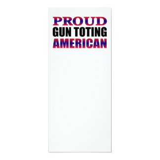 Cartão Proprietário de arma americano orgulhoso branco e