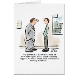 Cartão Proprietário empresarial que fala ao empregado