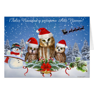 Cartão Próspero Año Nuevo de Feliz Navidad y do ¡!