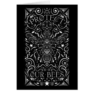 Cartão proteja nossas abelhas