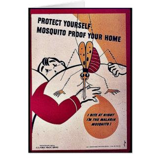 Cartão Proteja-se prova do mosquito sua casa