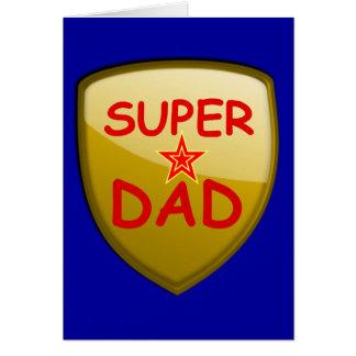 Cartão Protetor super do ouro do pai