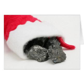 Cartão Protuberâncias do carvão que derramam fora de um