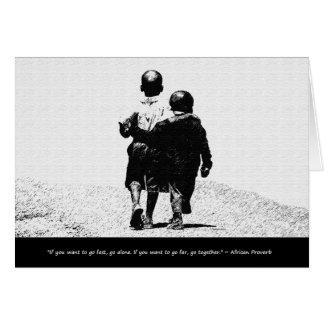 Cartão Provérbio africano