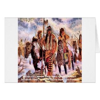 Cartão Provérbio da natureza do nativo americano de