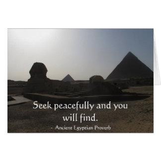 Cartão Provérbio egípcio sobre a PAZ