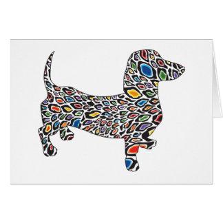 Cartão Psicadélico-Chita-Doxie