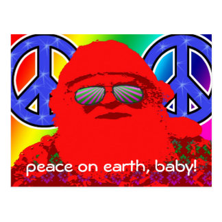 Cartão psicadélico da paz do papai noel