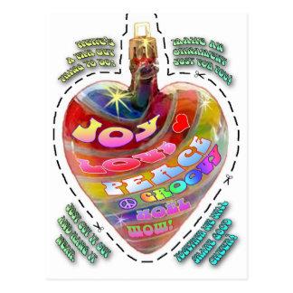 Cartão psicadélico do ornamento do entalhe do cora cartões postais