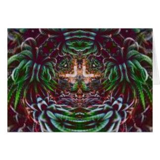 Cartão Psicadélico na planta
