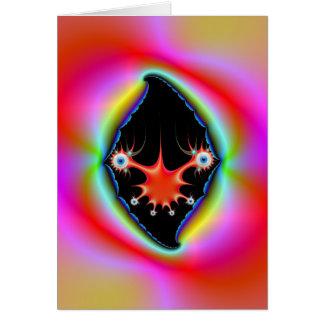 Cartão psicadélico rasgado da moldura para retrato
