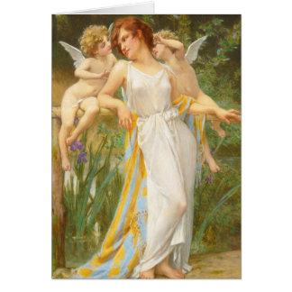 Cartão Psique e Cupido pequenos