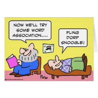 Cartão psiquiatra da associação de palavra