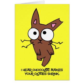 Cartão Psiquiatra do coelho do chocolate