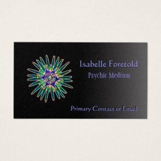 Cartão psíquico dos serviços da flor de néon da