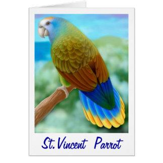 Cartão psto em perigo do papagaio de São Vicente