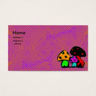 cartão psychodelic do cogumelo