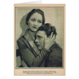 Cartão Publicidade 1927 do filme de Eleanor Boardman