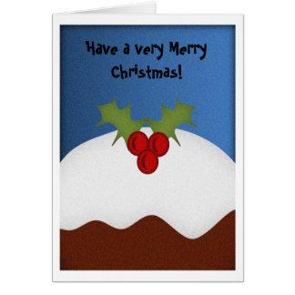 Cartão Pudim do Natal