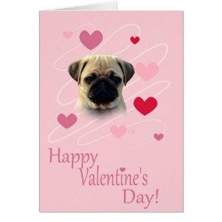 Cartão Pug que deseja o cumprimento do feliz dia dos