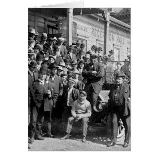 Cartão Pugilista Jack Johnson e instrutores, 1900s