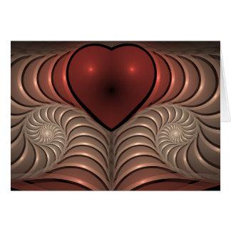 Cartão Pulsação do coração