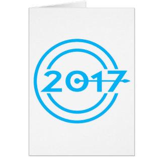 Cartão Pulso de disparo da data de 2017 azuis