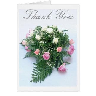 Cartão Pulverizador cor-de-rosa, obrigado